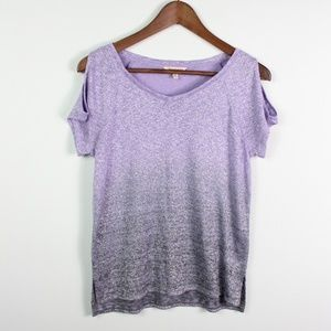 Juicy Couture Top Cold Shoulder Short Sleeve